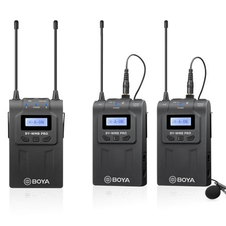 Boya BY-WM8 Pro-K2 UHF Dual-Channel Wireless Microphone System
