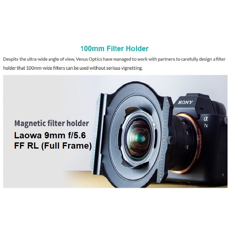 Laowa 100mm Magnetic Filter Holder Set (sa okvirom) za Laowa 9mm F5.6 FF RL - 2