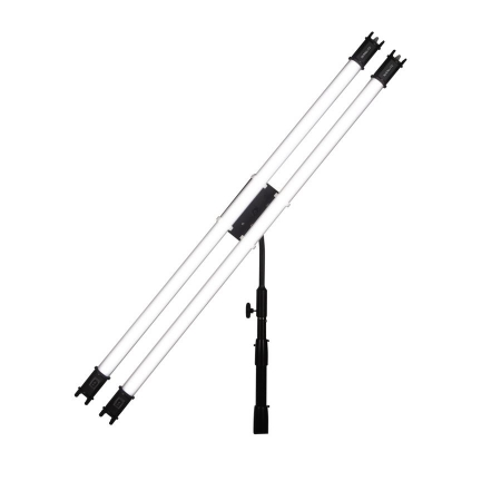 Nanlite HD-T12-2-BHG (Pavotube Double Bank 2 T12 LED Tube Mount with Gooseneck and 5/8in Receiver)