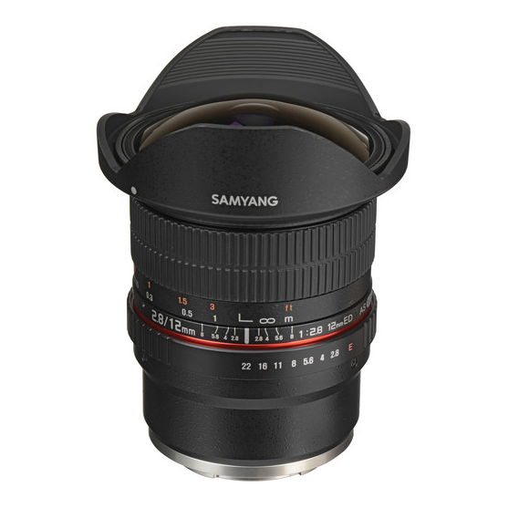 Samyang 12mm f/2.8 ED AS NCS Fisheye za Sony - 1