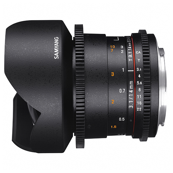 Samyang 14mm T3.1 VDSLR ED AS IF UMC II za Canon - 2
