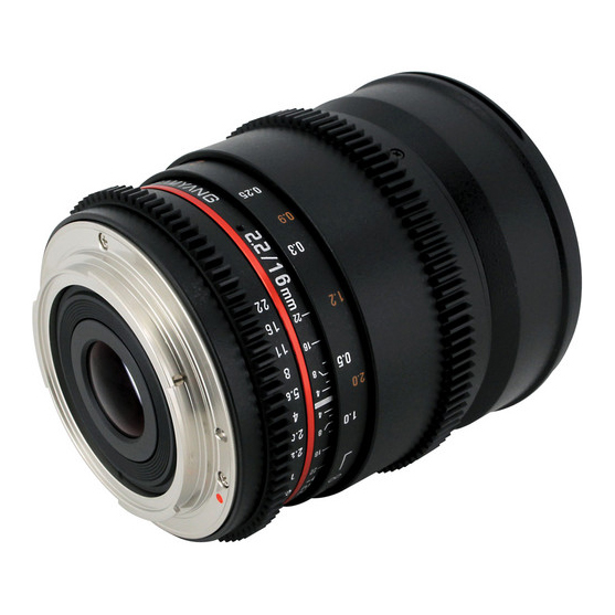Samyang 16mm T2.2 VDSLR ED AS UMC CS II za Sony - 4