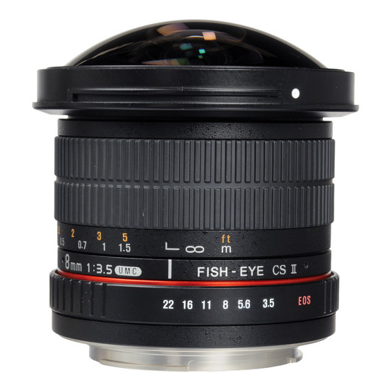 Samyang 8mm f/3.5 UMC Fish-Eye CS II za Canon - 3