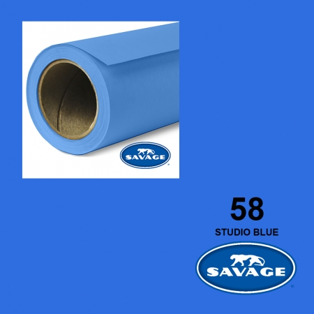 Savage Studio Blue 58 (Chroma Key) 2.75x11m Made in USA