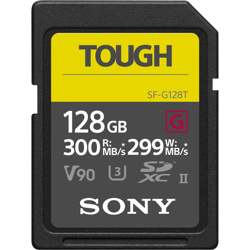 Sony 128GB SF-G Tough Series UHS-II SDXC - 1